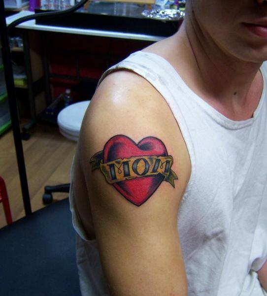 Heart with Mom Tattoo